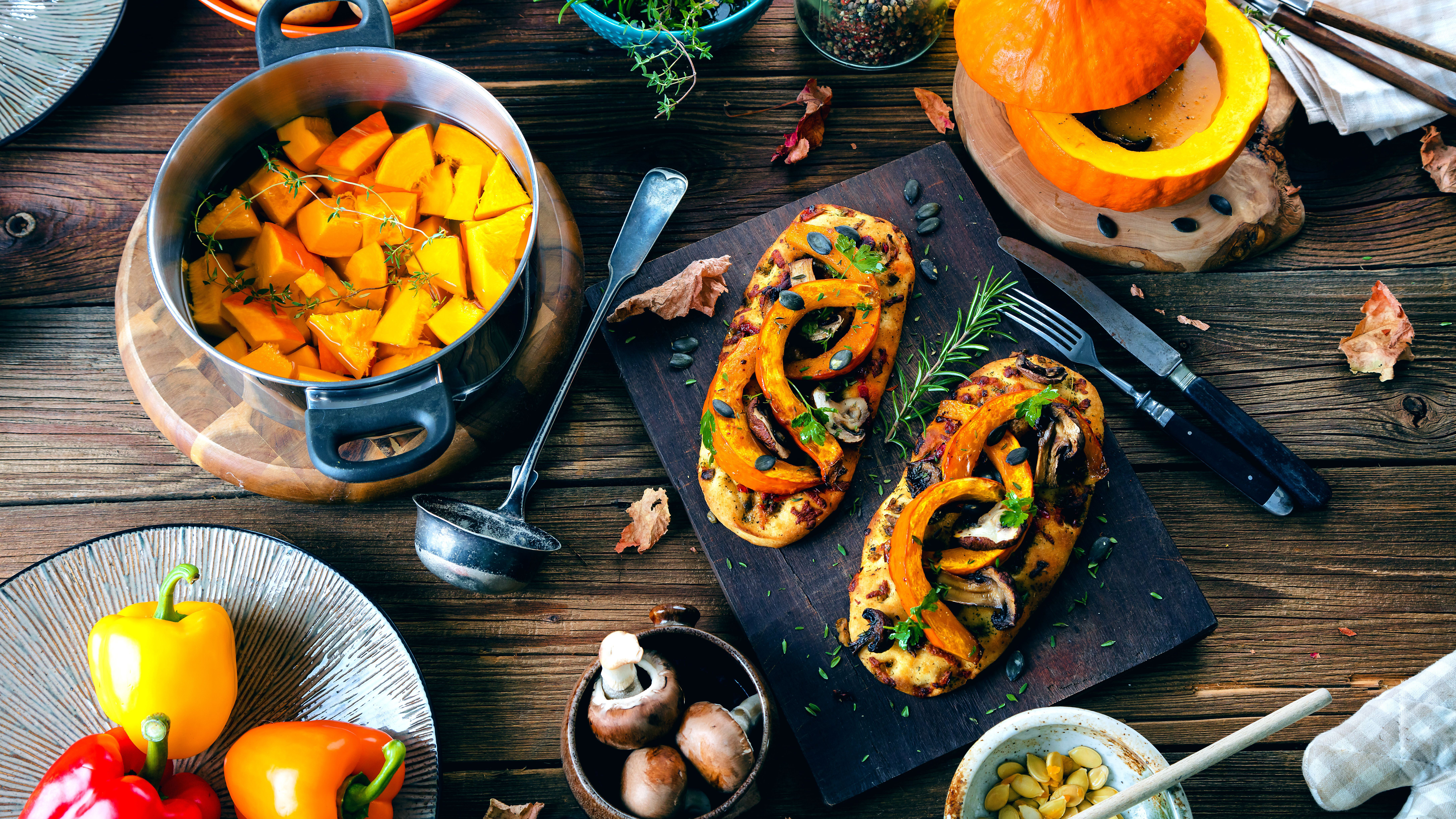 Herbst-Rezepte: Kürbis, Äpfel, Muscheln und Co